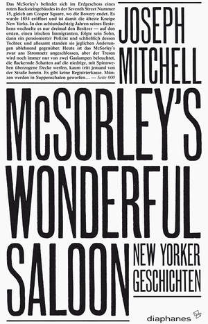Joseph Mitchell: McSorley's Wonderful Saloon